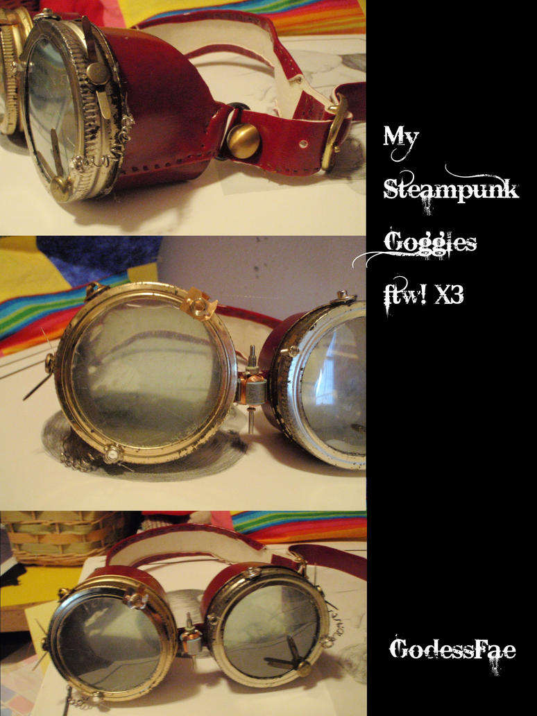 :heart: Steampunk goggles by GodessFae