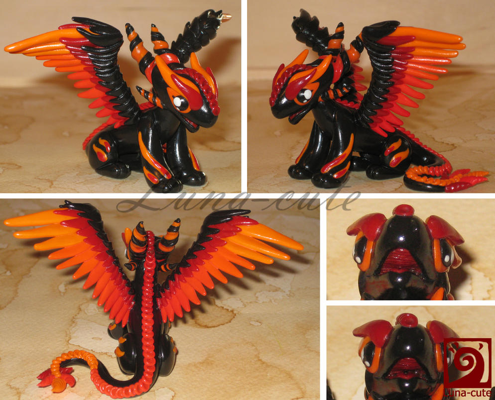 Fire Made Of Clay : Fire dragon details by luna cutexd on deviantart
