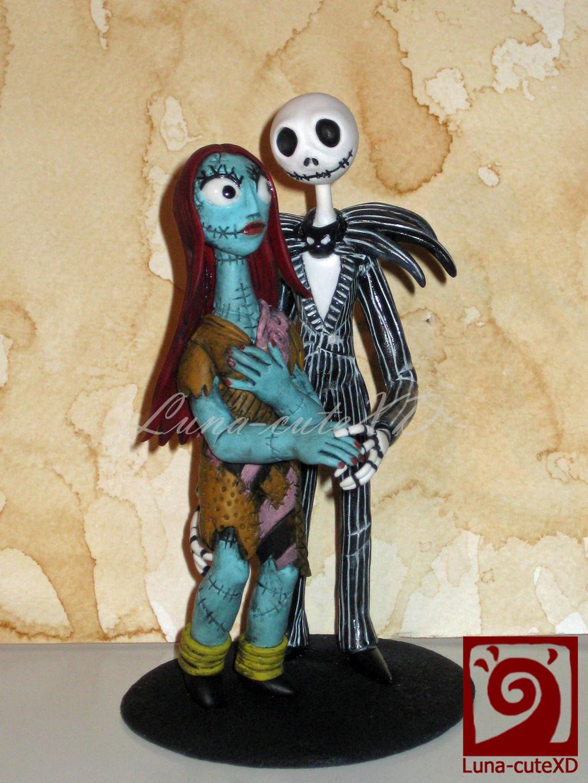 Jack Skellington and Sally cake topper by LunacuteXD on DeviantArt