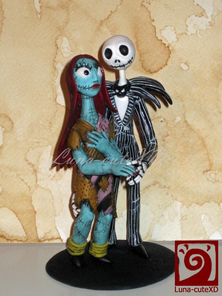 Jack Skellington And Sally Cake Topper