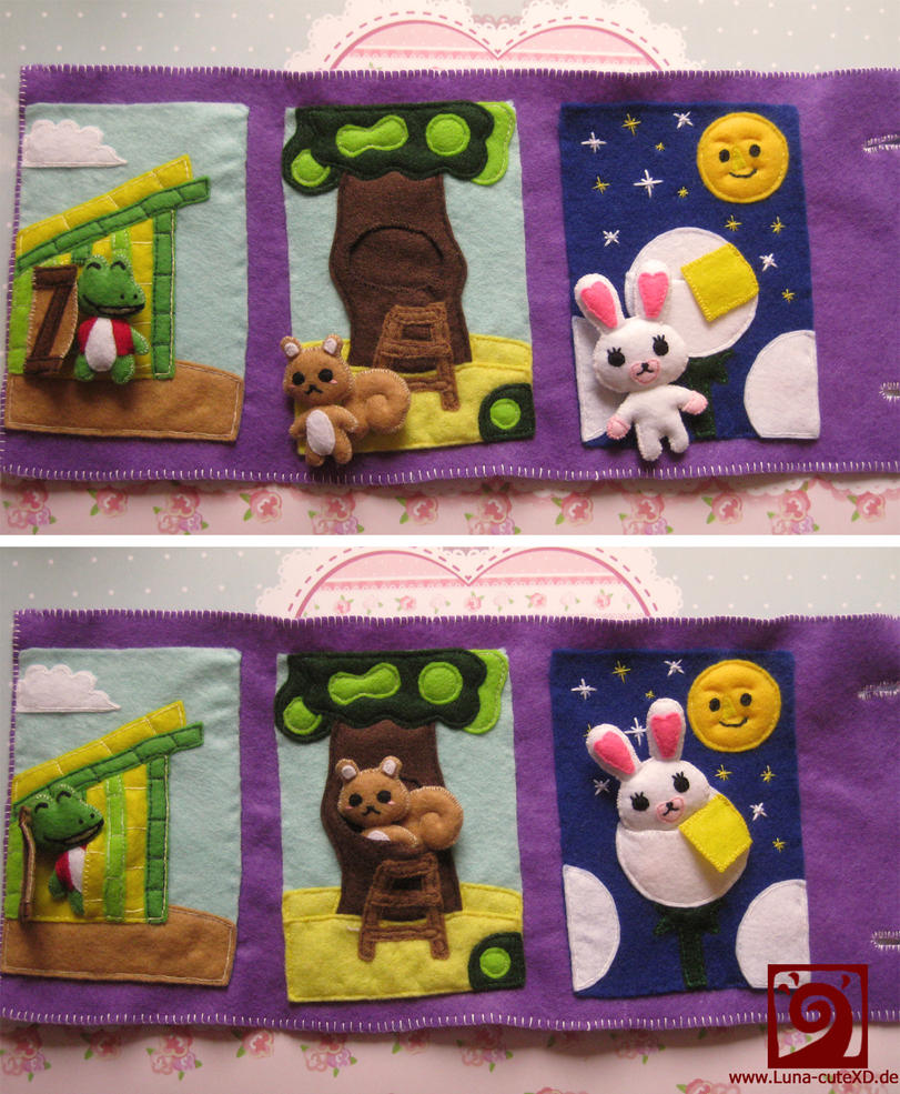 Felt Mofy play book by Luna-cuteXD