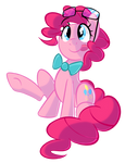Pinkie with glasses and a bowtie