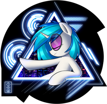 Vinyl Scratch - City Lights - Shirt Design! by January3rd