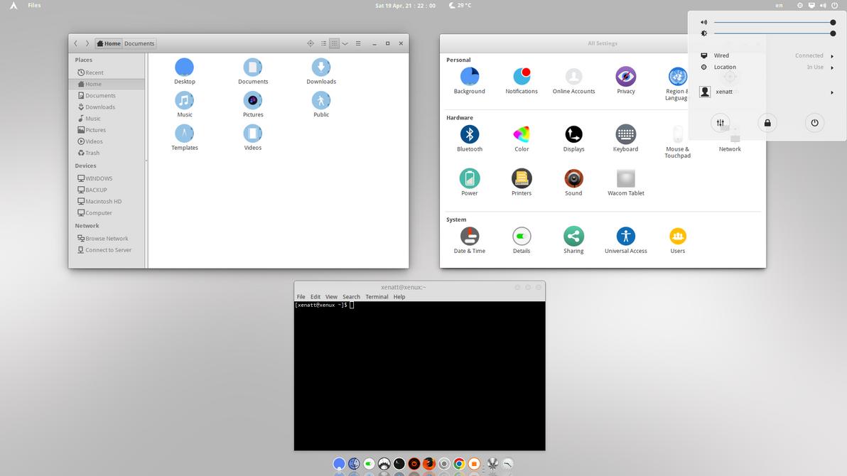 Arch Linux : Miminal  Desktop by xenatt