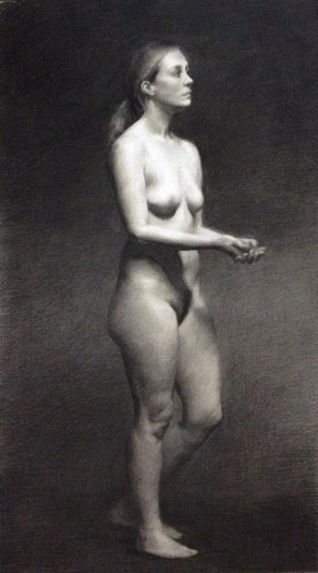 Female nude study by Teffy