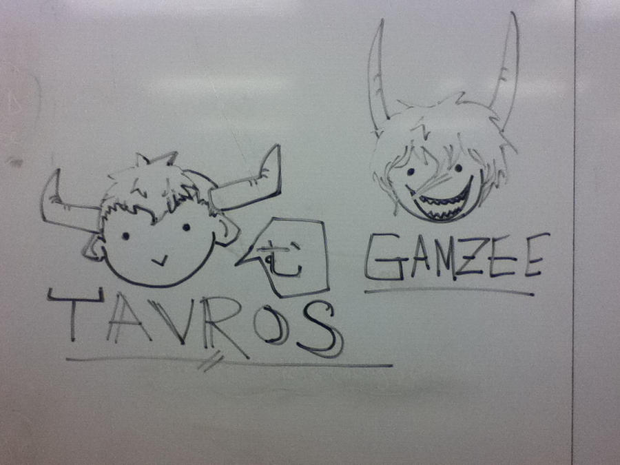 Tavros and gamzee whiteboard doodle by pagiechan on deviantart for Cute whiteboard drawings