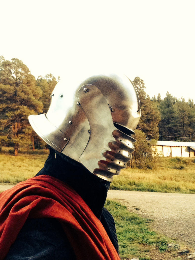 My armor with new Italian bellows sallet by chemio