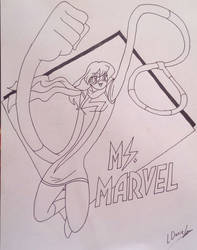 Ms Marvel in action gift for Keco