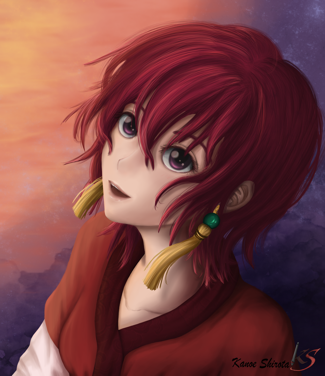 Yona in the blush of dawn (Akatsuki no Yona) by KanoeShirota
