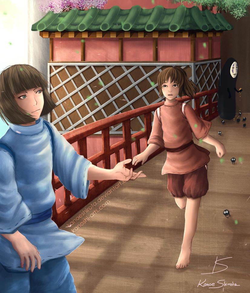 Spirited away Chihiro x Haku by KanoeShirota