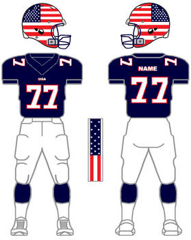 Customized USA football home uniforms