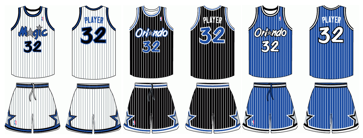 2e4db172270 1990s NBA uniforms, ranked from cartoonish best to technicolor worst ...