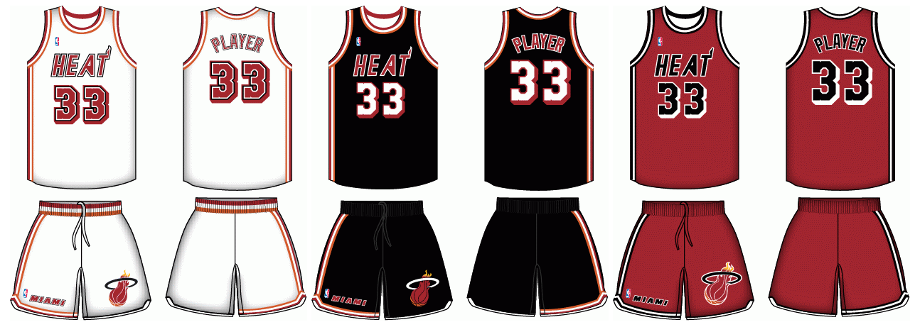 1988-1989 Miami Heat uniforms by Chenglor55 on DeviantArt