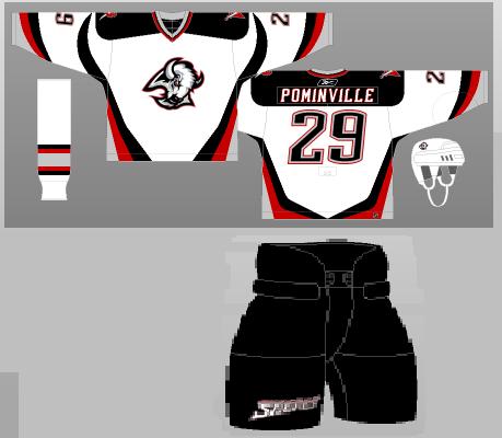 1996-2006 Buffalo Sabres white uniforms