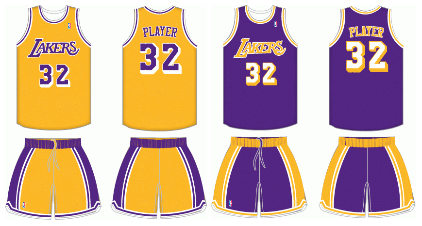 1978 1999 Los Angeles Lakers Uniforms By Chenglor55 On