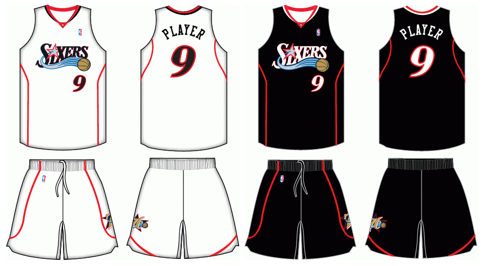new product aee9e 5cf91 2007-2009 Philadelphia 76ers uniforms by Chenglor55 on ...