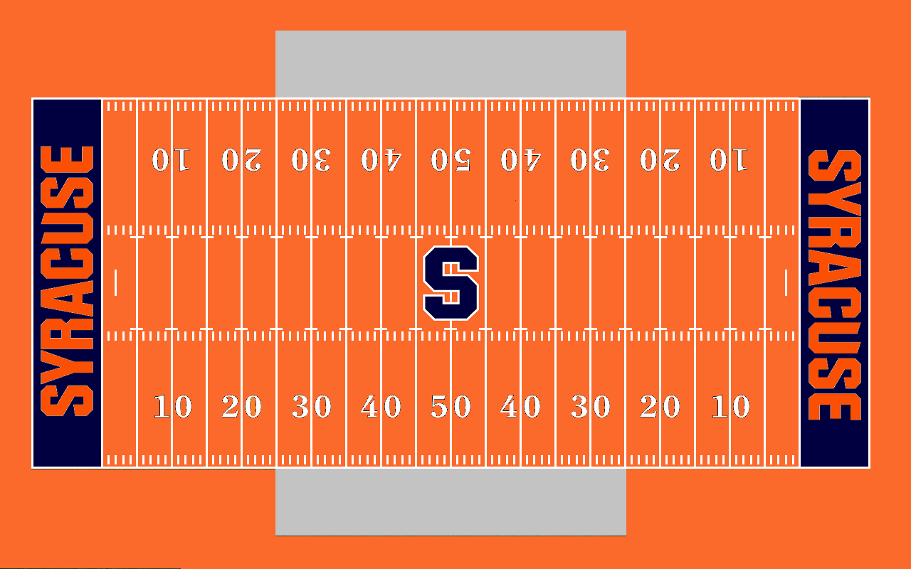 Syracuse All Orange Football Field By Chenglor55