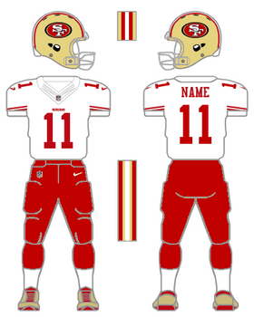 49ers red pants concept