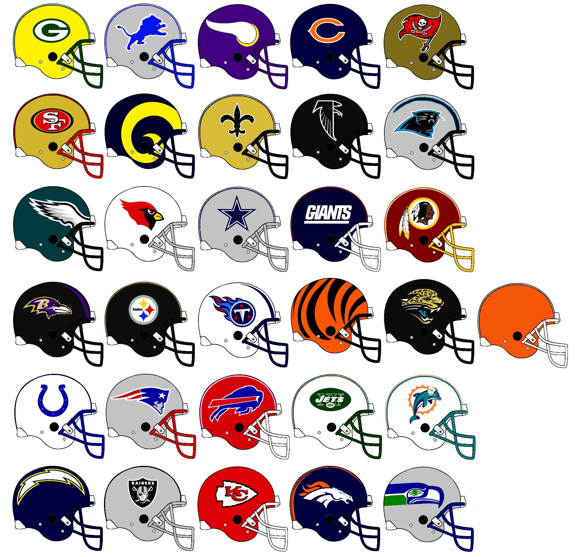 Nfl Team Helmets 1999 By Chenglor55 On DeviantArt