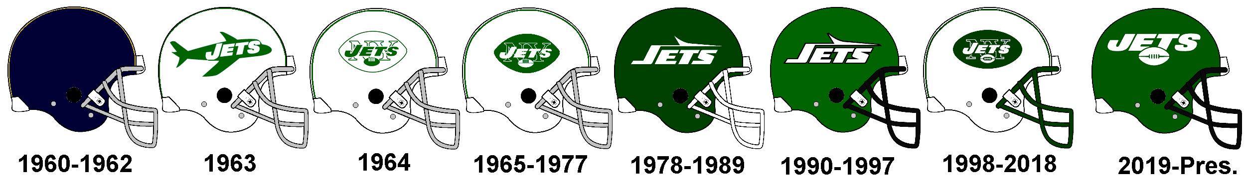 New York Jets Helmet History By Chenglor55 On Deviantart