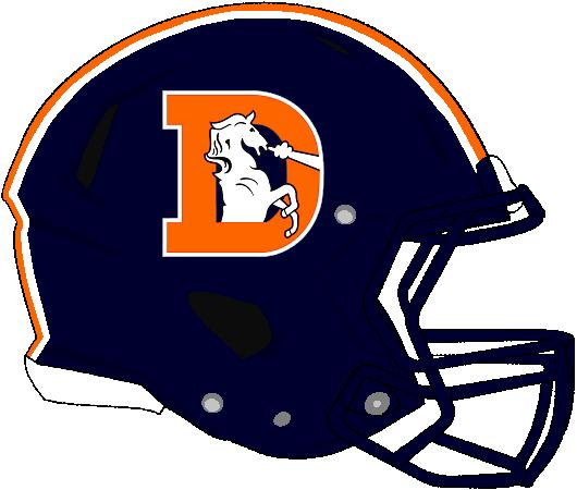 Rev. Speed Denver Broncos Color Rush Helmet by Chenglor55