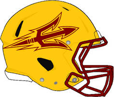 Arizona State yellow Rev. speed helmet