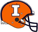 Illinois 2014-2016 orange Schutt Air Pro helmet
