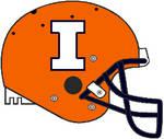 Illinois 2017 orange Schutt Air Pro helmet