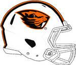 Oregon State 2016-2017 white Rev Speed helmet