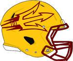Arizona State 2018 yellow Rev Speed helmet