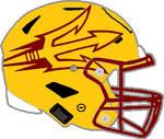 Arizona State 2018 yellow Speedflex helmet
