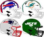 Speedflex AFC East helmets 2021