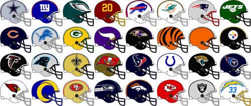 NFL Team Helmets 2021