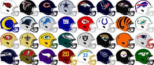 NFL Rev Speed Team Helmets 2021