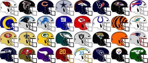 NFL VICIS Team Helmets 2021