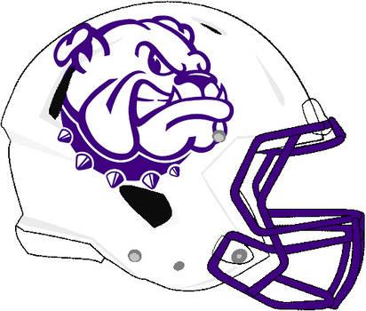 Western Illinois white Rev Speed helmet