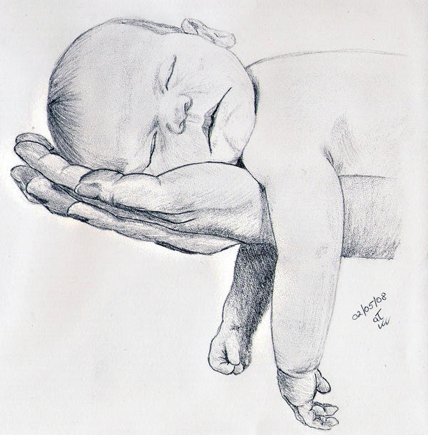 Baby on mother's hands by Pandannabelle on DeviantArt
