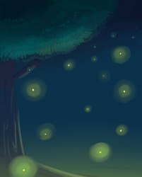 fireflies... or seomthing....