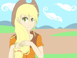Human Applejack by cartoonboyplz