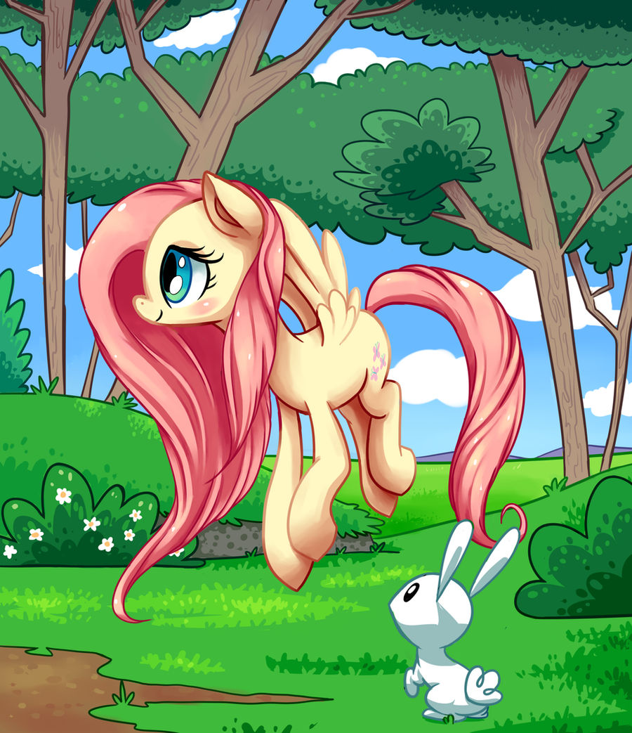 Fluttershy, for my brother
