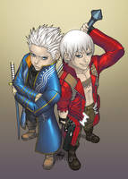 Virgil and Dante by lost-tyrant