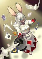 Bunny_Hat_Trick by lost-tyrant