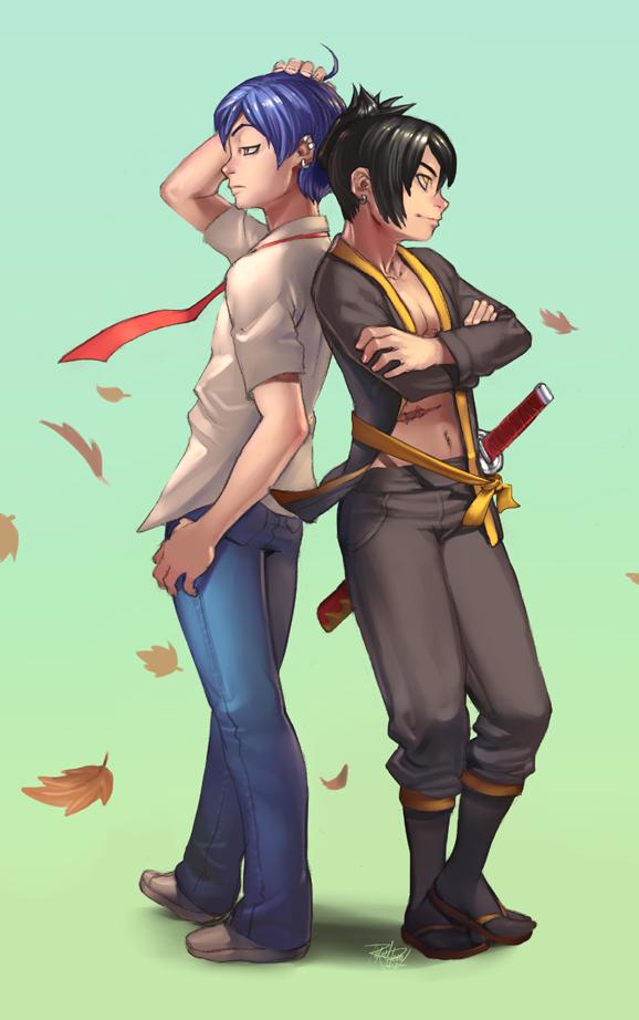 Shumichi and Yomi for Sabishiita by lost-tyrant