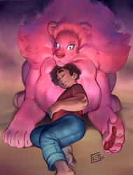 Steven and Lion by lost-tyrant