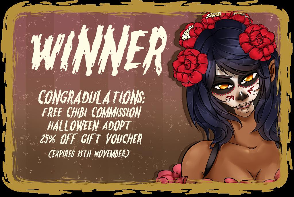 Halloween winning ticket by TheEternalBlackRose