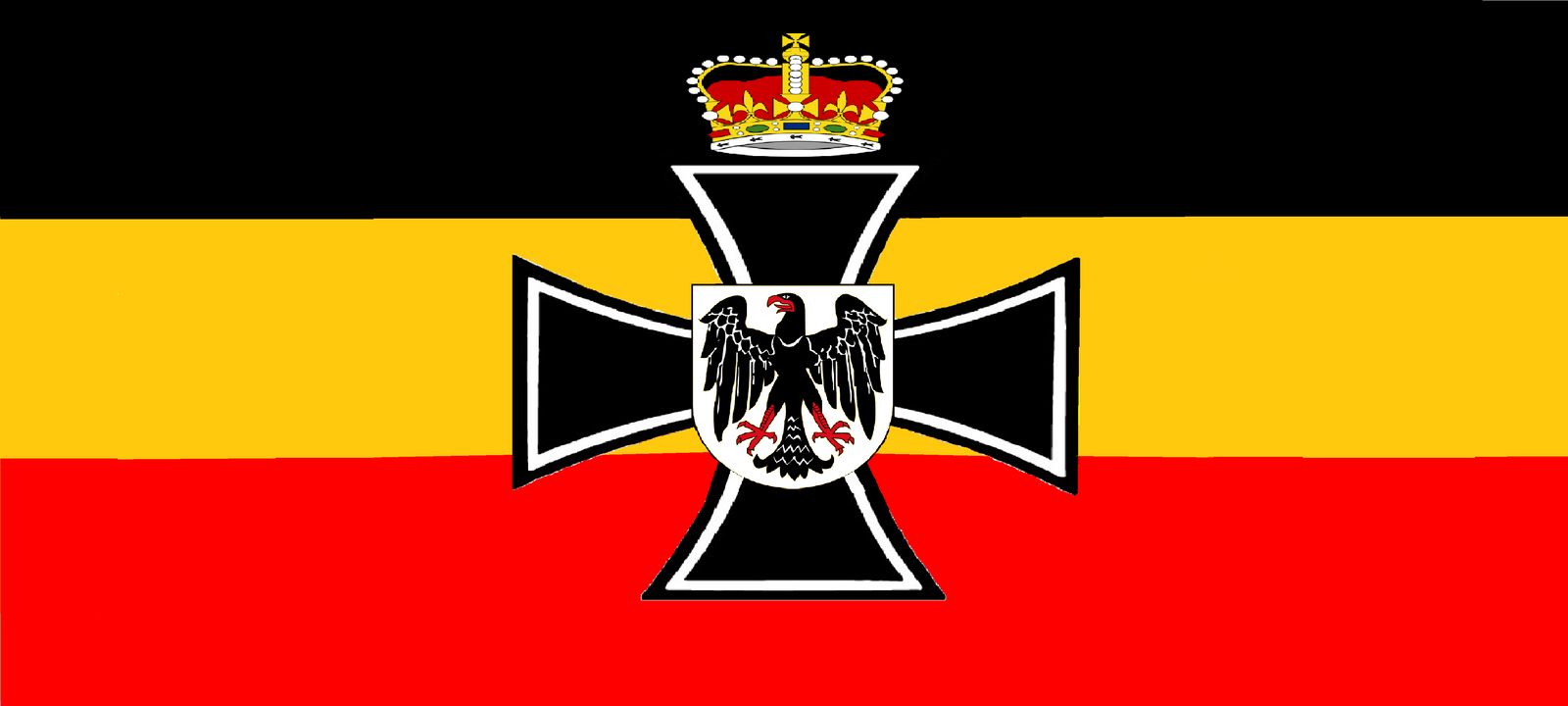 flag of the central german empire by wolfmoon25 on deviantart