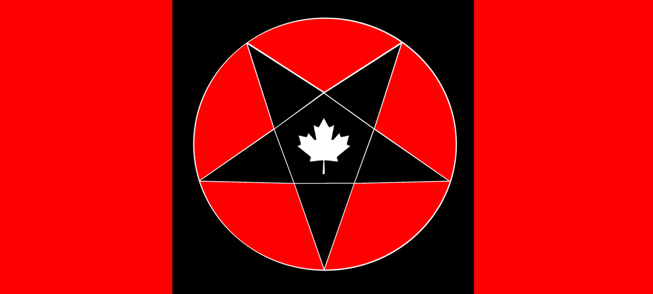 flag of satanic canada by wolfmoon25 on deviantart
