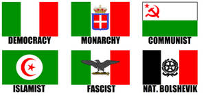 Alternate Flags of Italy
