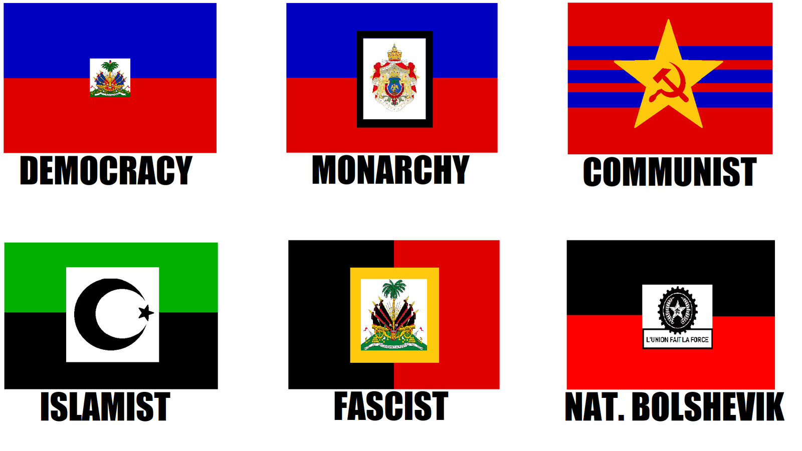 Alternate Flags of Haiti