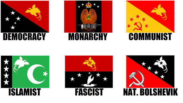 Alternate Flags of Papua New Guinea